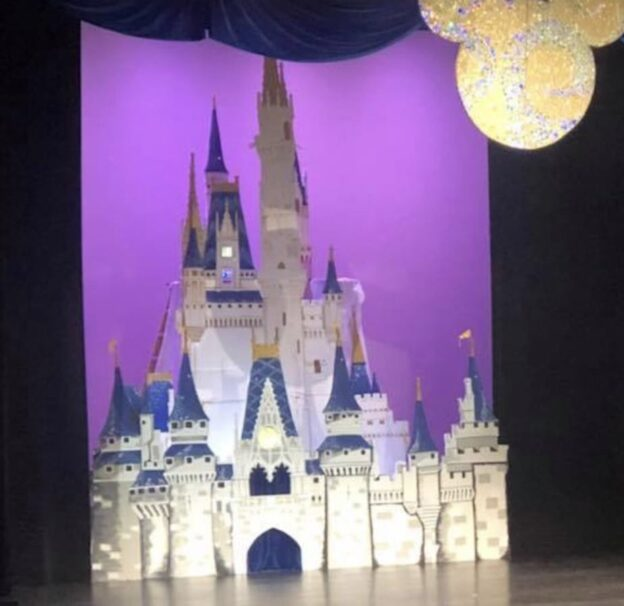 Disney Castle using EPS - theatrical set