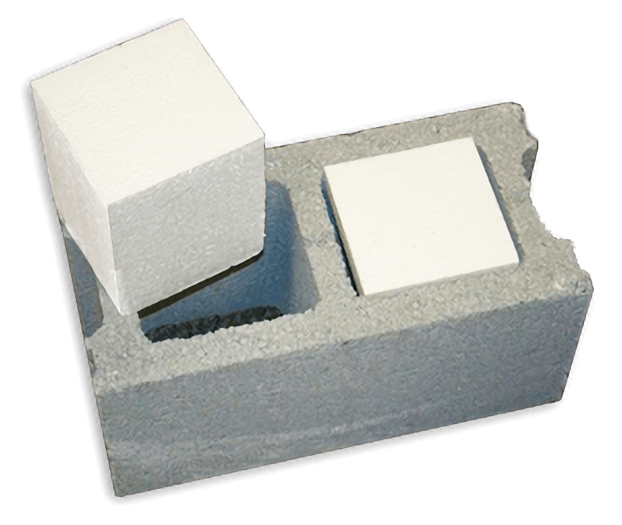 An 8 Hollow Concrete Block The Type Used For Most Walls Only Has R Value Of 1 11 Eps Insulation Blocks That Are 5 Thick Have
