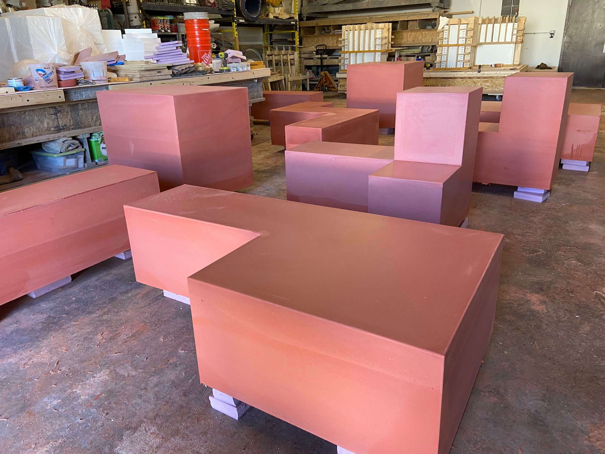 04 Lightweight Concrete Benches